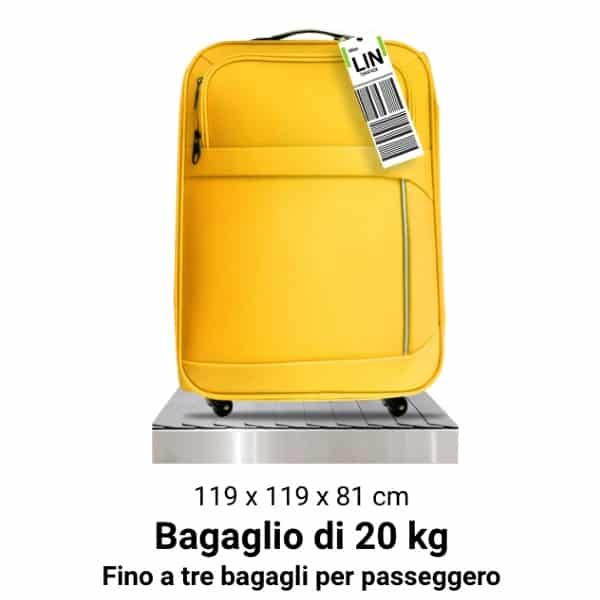 bagaglio in stiva Ryanair 20 kg