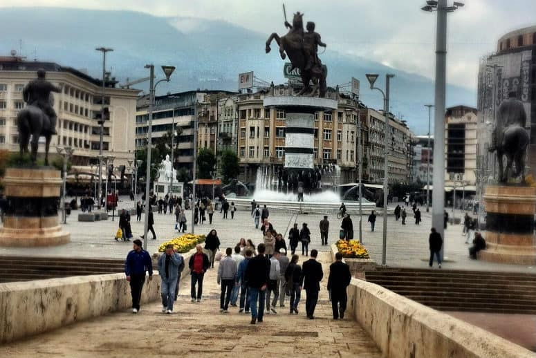 macedonia square skopje