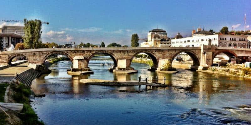 stone bridge skopje