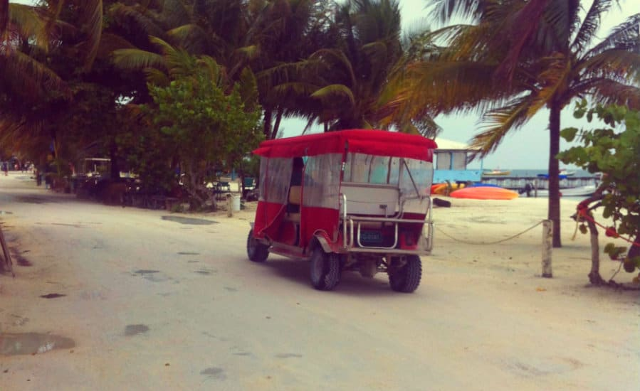caye caulker golf car