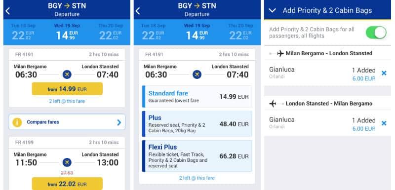 prenotare volo Ryanair App