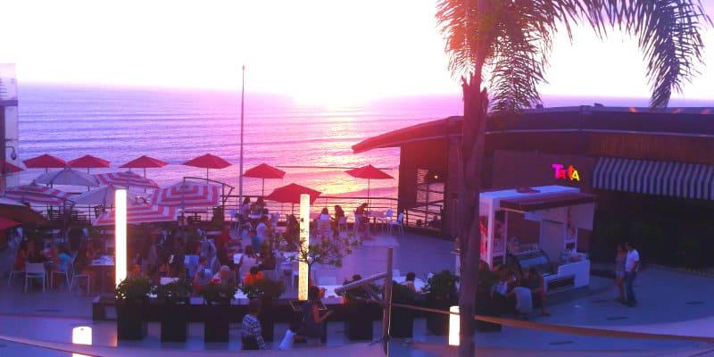 tramonto oceano terrazze lima
