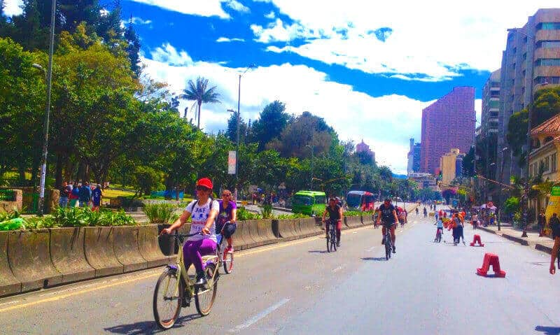 Ciclovia Bogotá Colombia