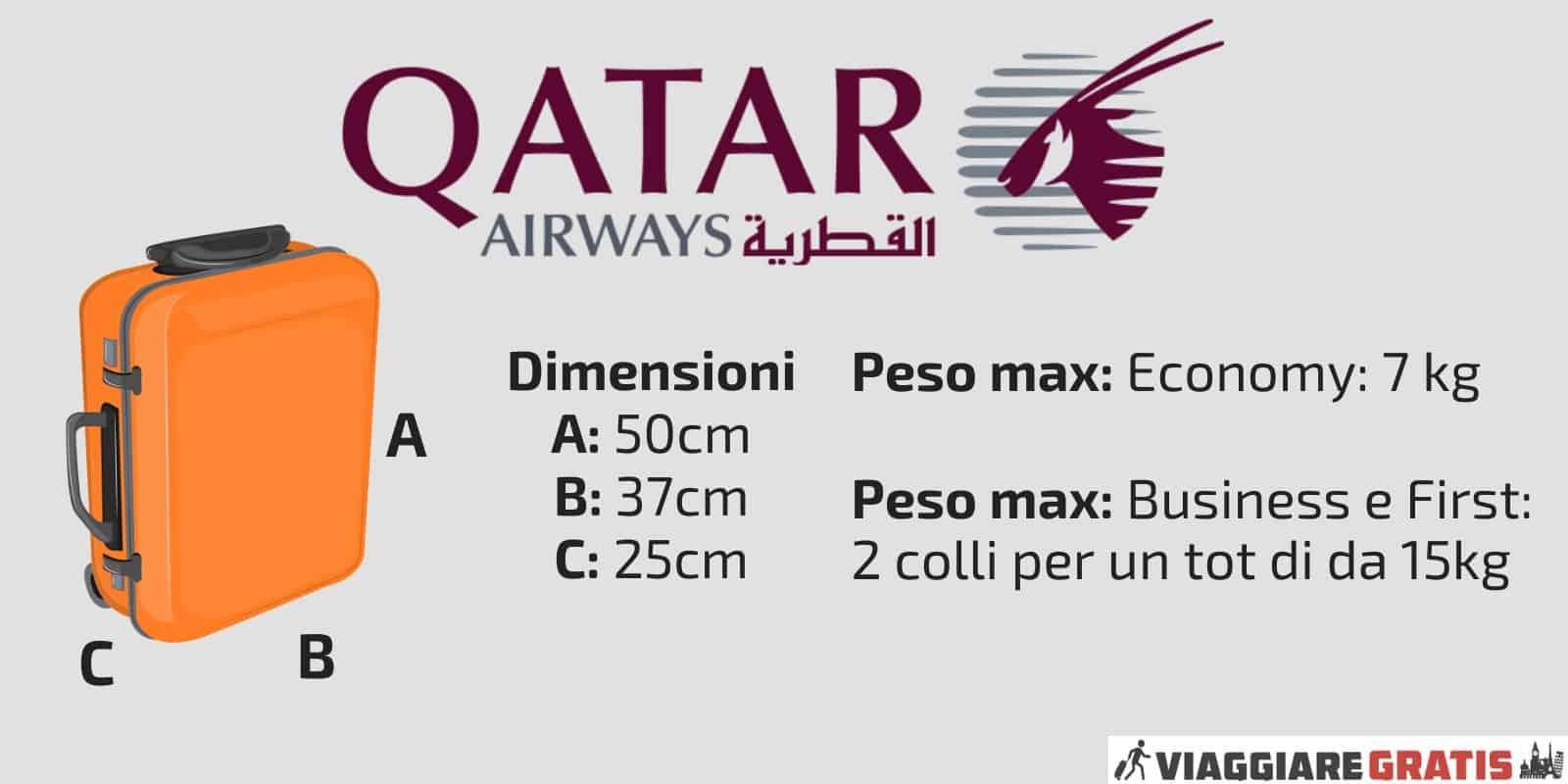 Bagaglio a Mano Qatar Airways