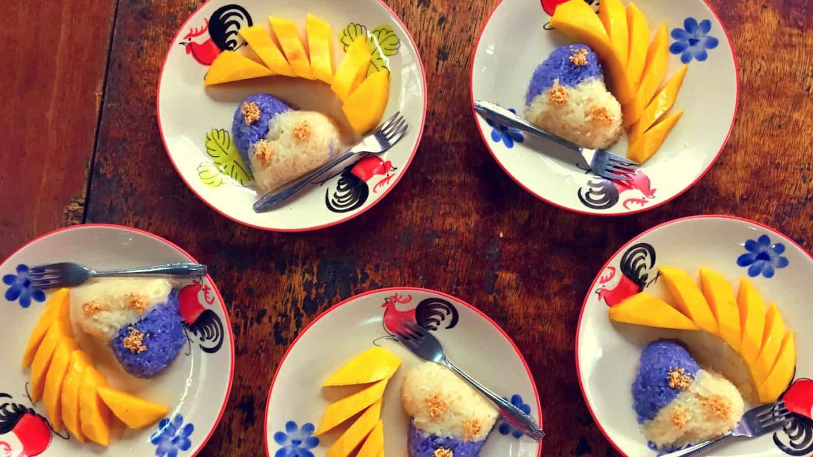 Corso cucina Thai Chiang Mai Mango Sticky Rice