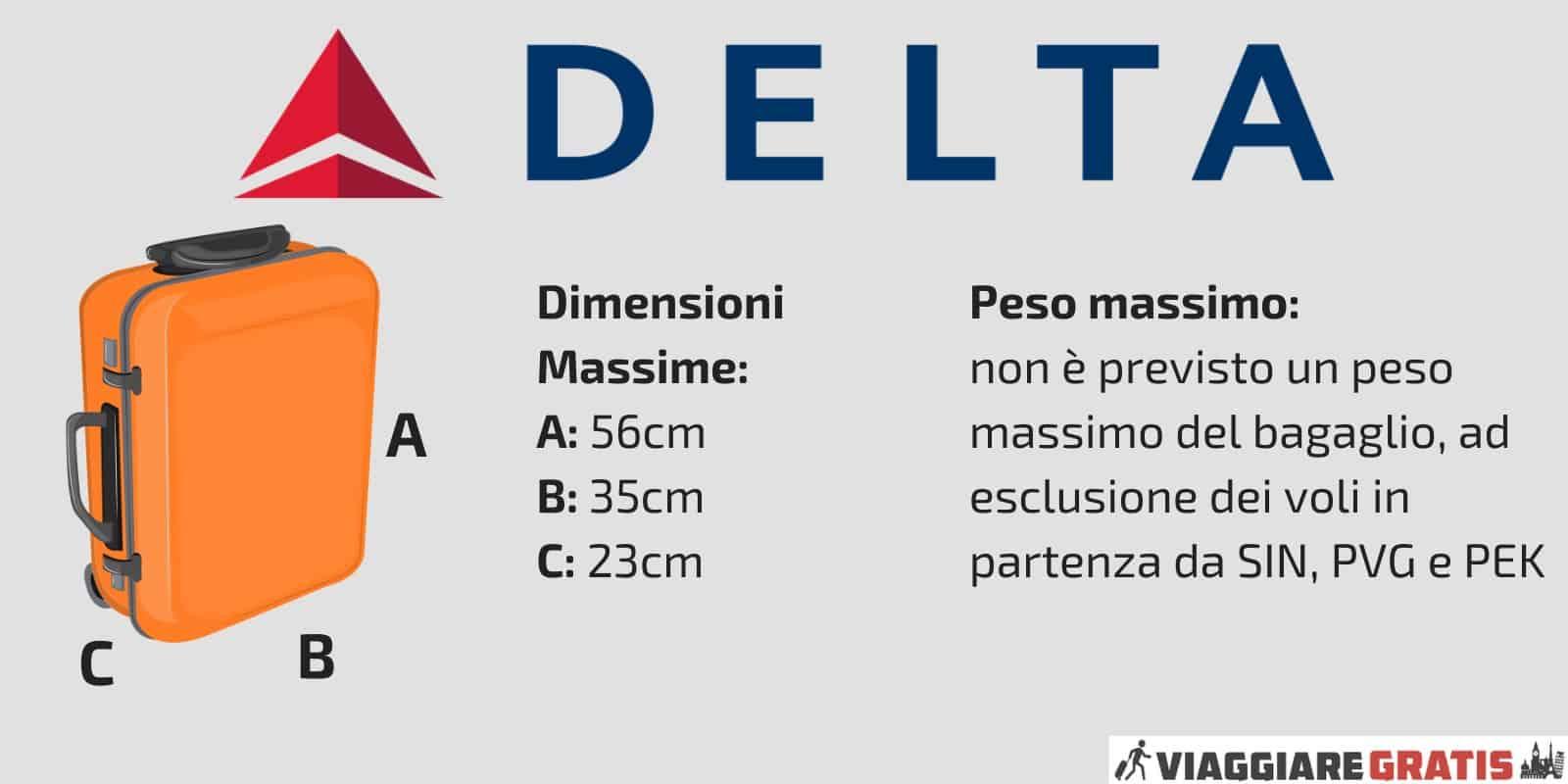 Bagaglio a mano Delta Airlines check in
