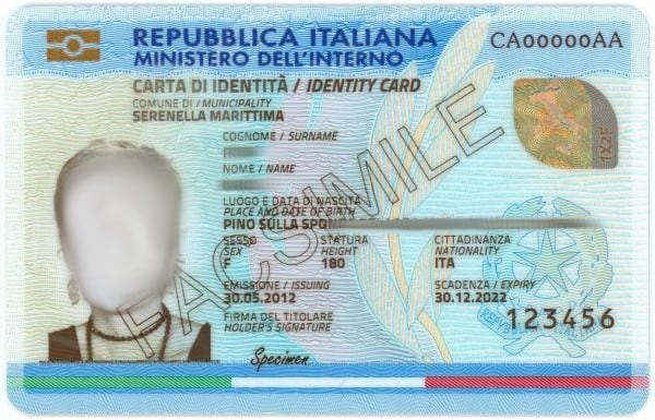 Carta identita elettronica fronte