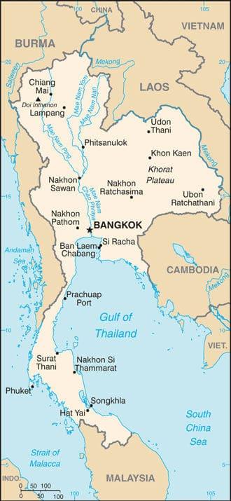 Tra Vietnam E Thailandia Cartina Geografica.Mappa Della Thailandia Interattiva E Cartine Delle Citta Thailandesi