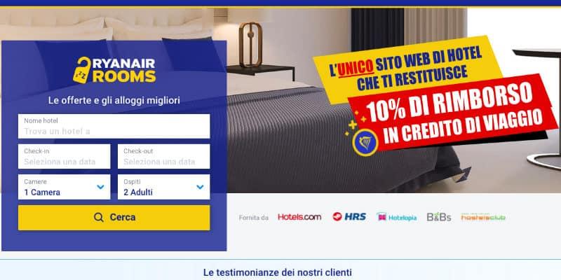 Ryanair Rooms credito viaggio