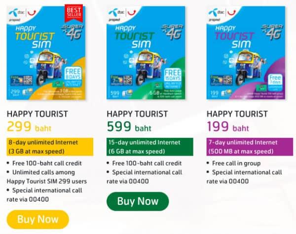 dtac traveller sim card thailandesi
