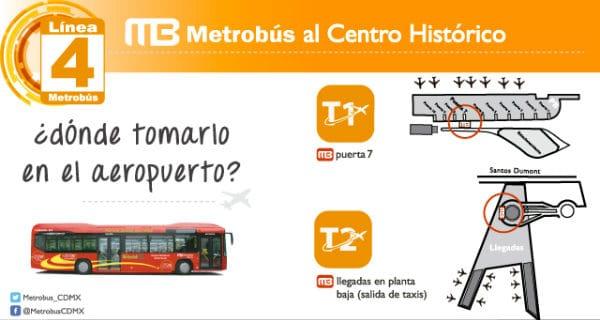 metrobus trasporti aeroporto citta del messico