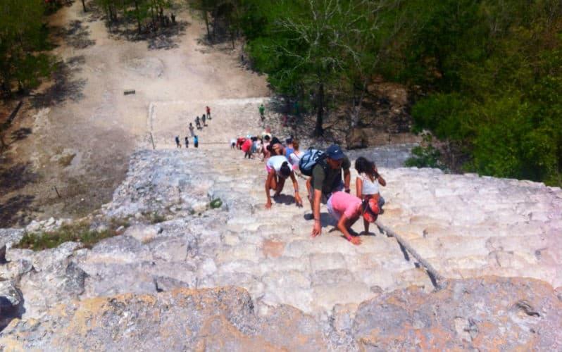 scalare piramide coba messico