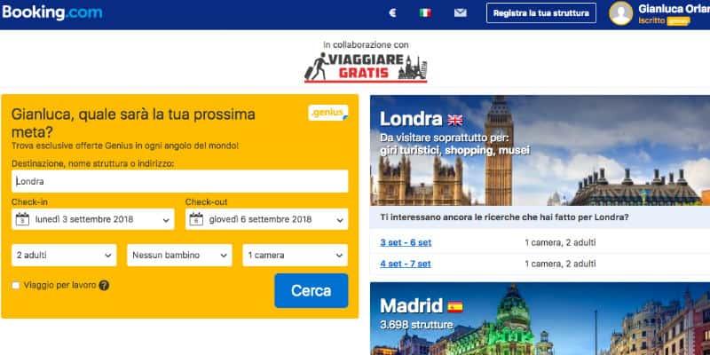 siti per viaggi booking