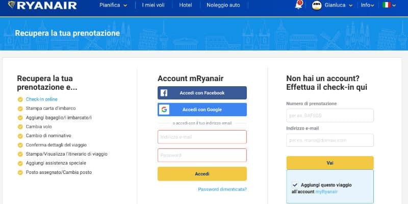 Ryanair check in online