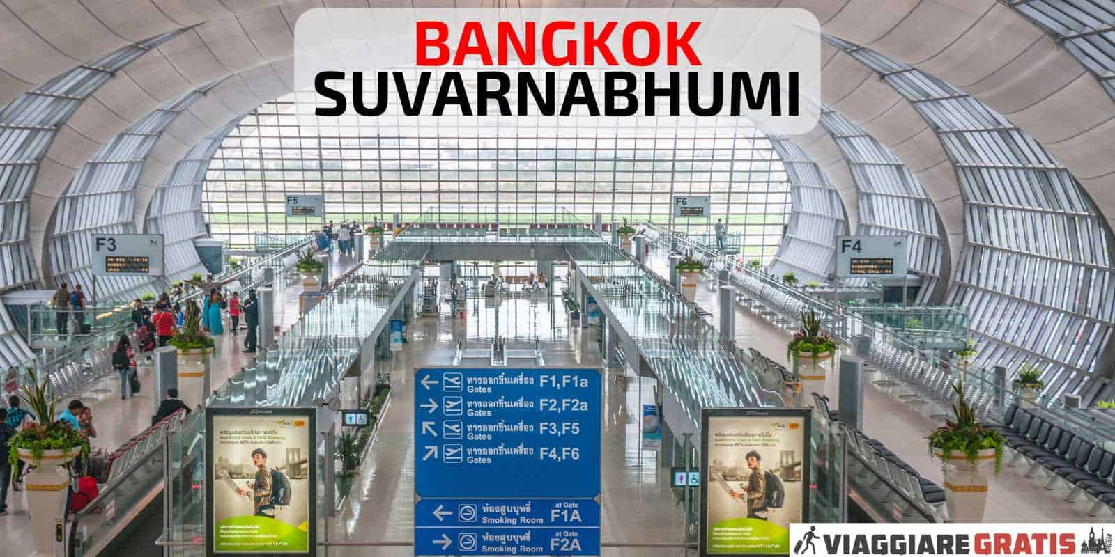 Aeroporto di Bangkok Suvarnabhumi Thailandia