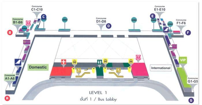 Terminal aeroporto bangkok primo piano