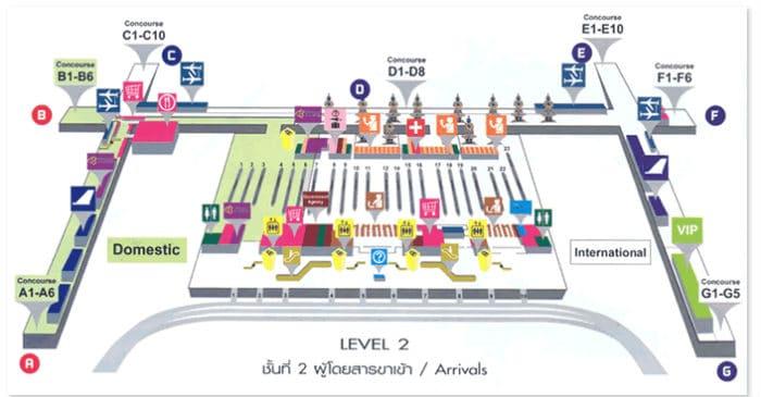 arrivi bangkok airport