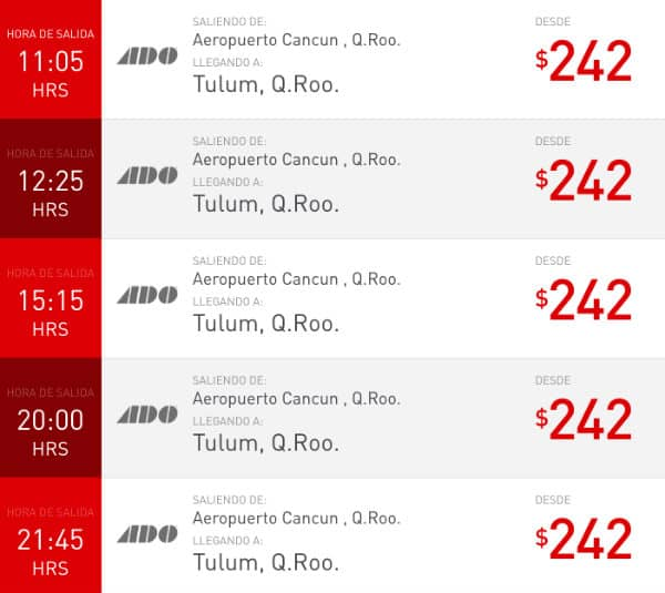 orari aeroporto cancun tulum