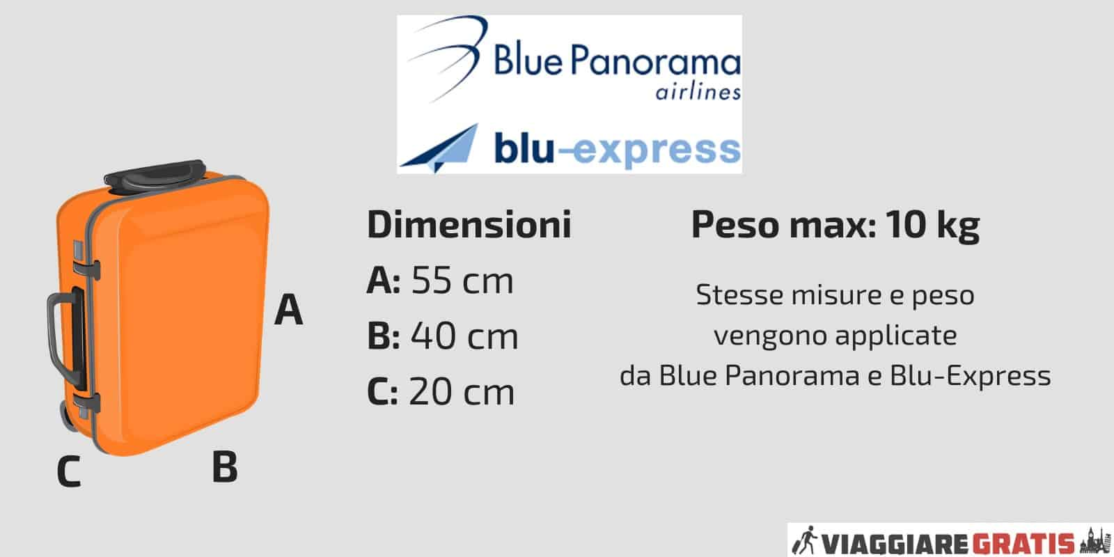 Bagaglio a Mano Blue Panorama Express