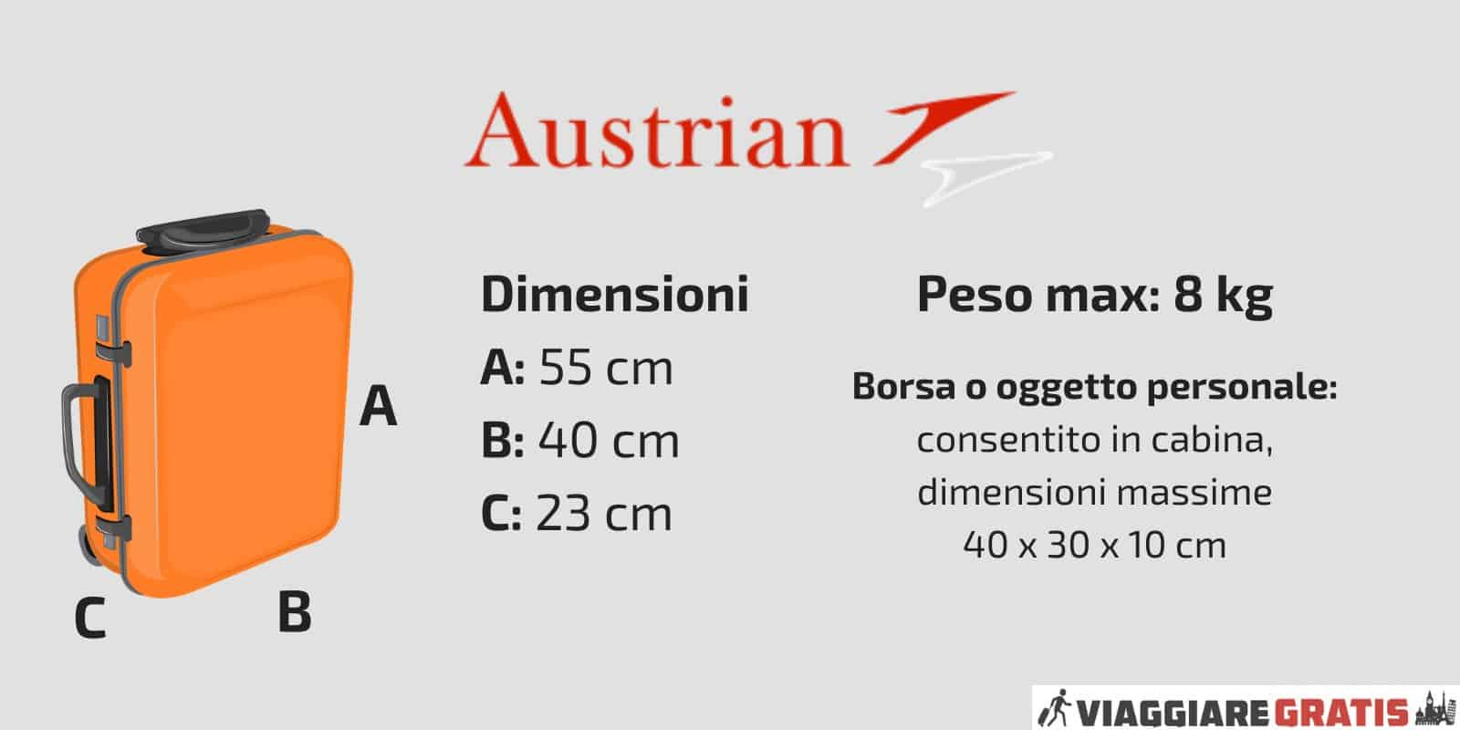 Bagaglio a Mano Austrian Airlines