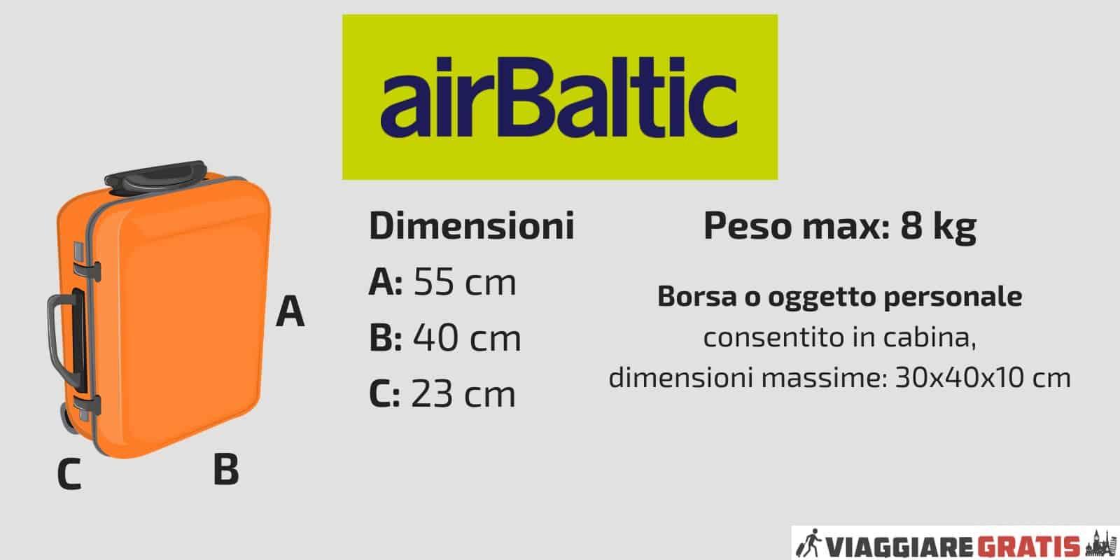 Bagaglio a Mano Air Baltic