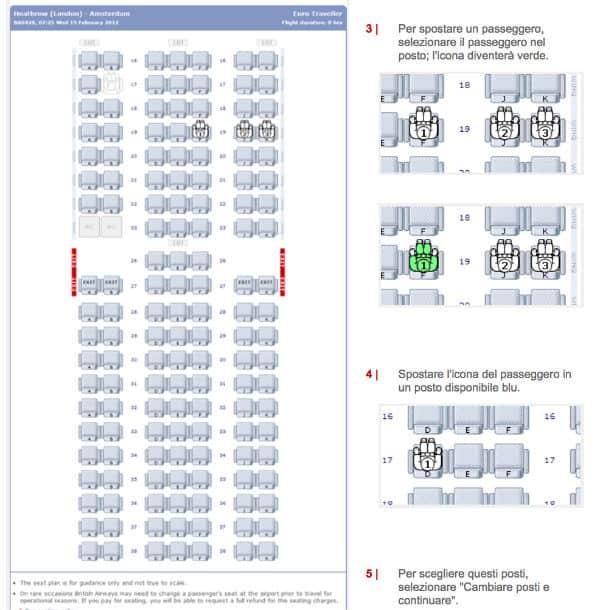 posti a sedere british airways check in online