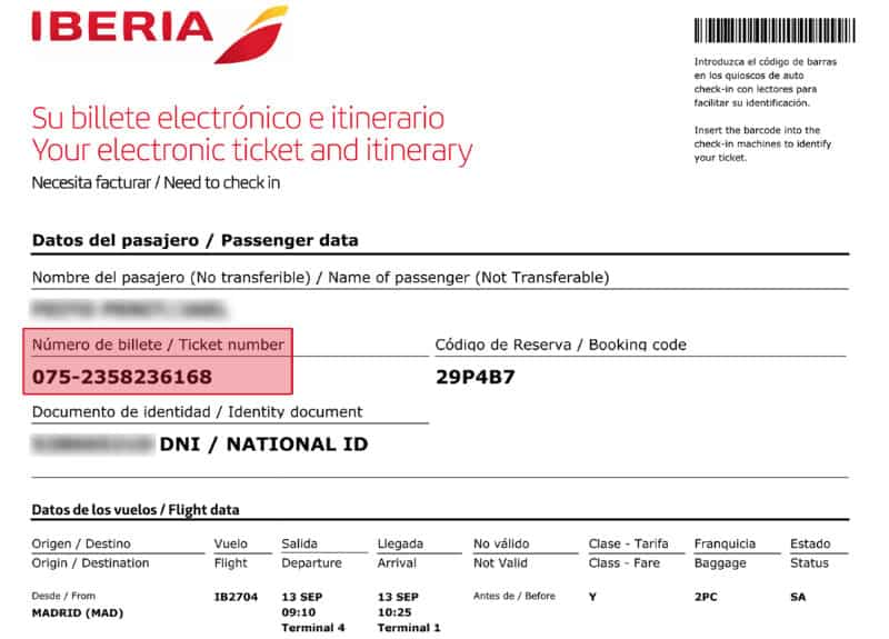 Iberia web check-in