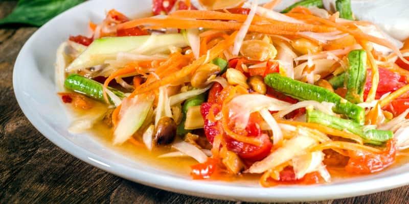 papaya salad cosa mangiare in thailandia