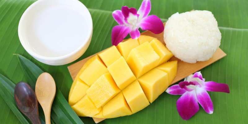 piatti tipici thai Mango Sticky Rice