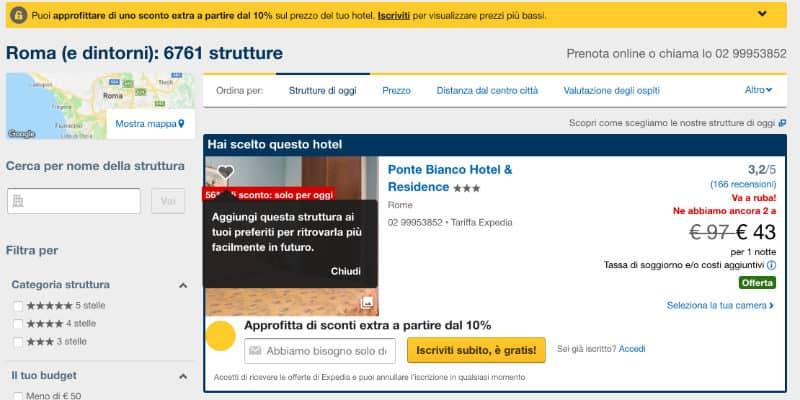 Expedia offerte hotel