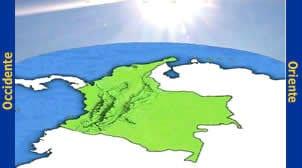 mappa ora in colombia