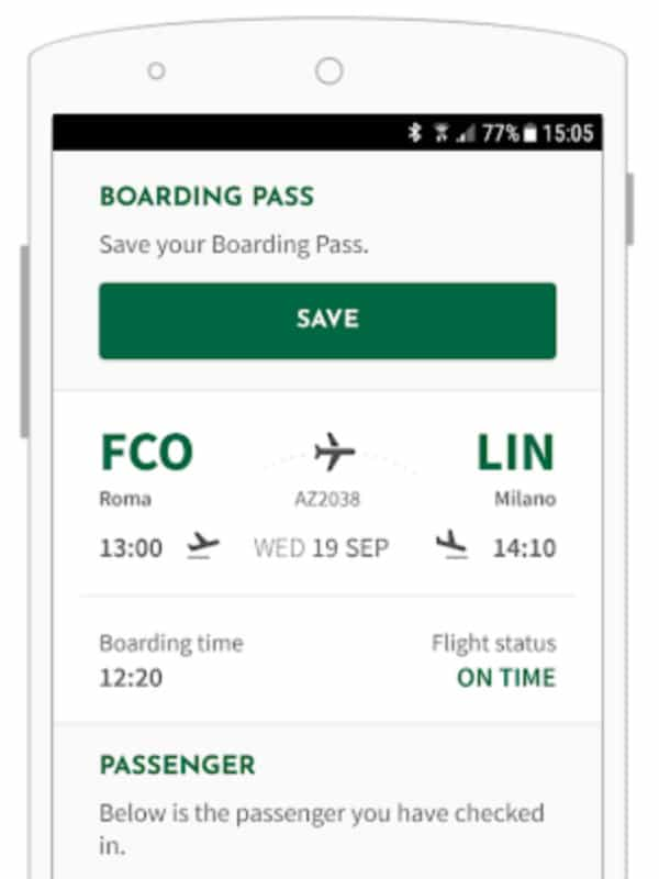 mobile check in alitalia app
