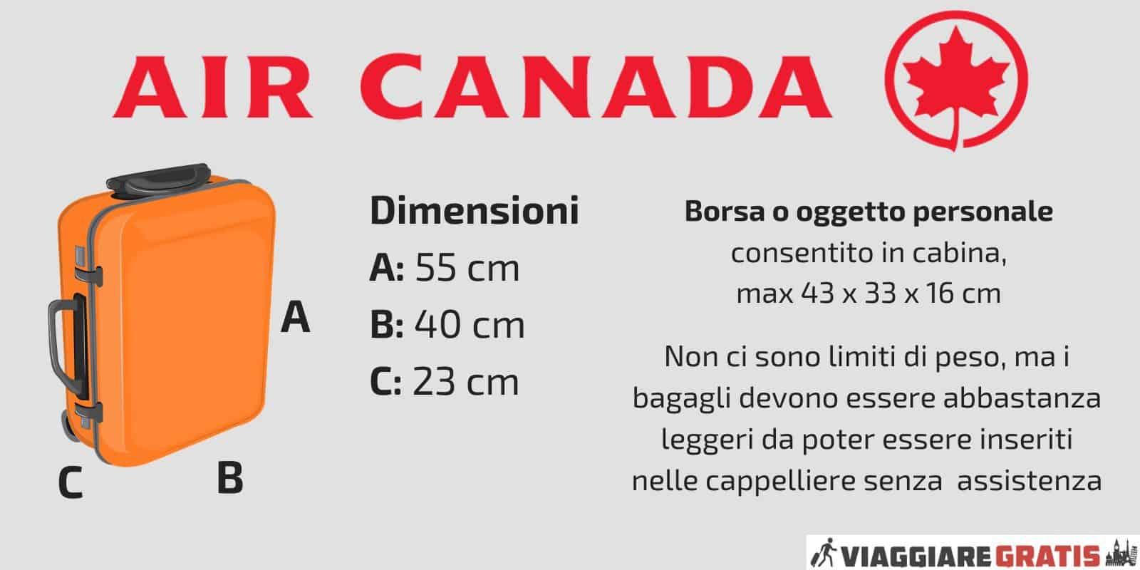 Bagaglio a Mano Air Canada