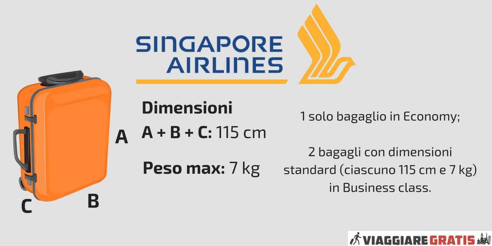 Bagaglio a Mano Singapore Airlines