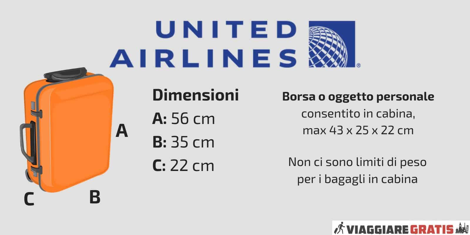 Bagaglio a Mano United Airlines