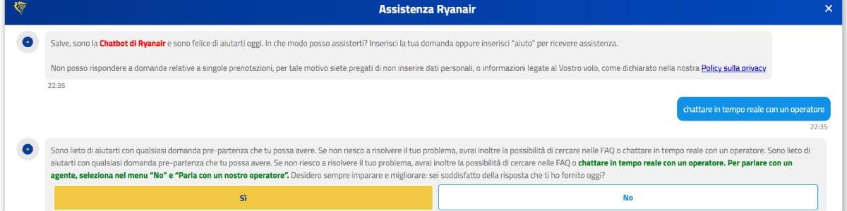 live chat Ryanair