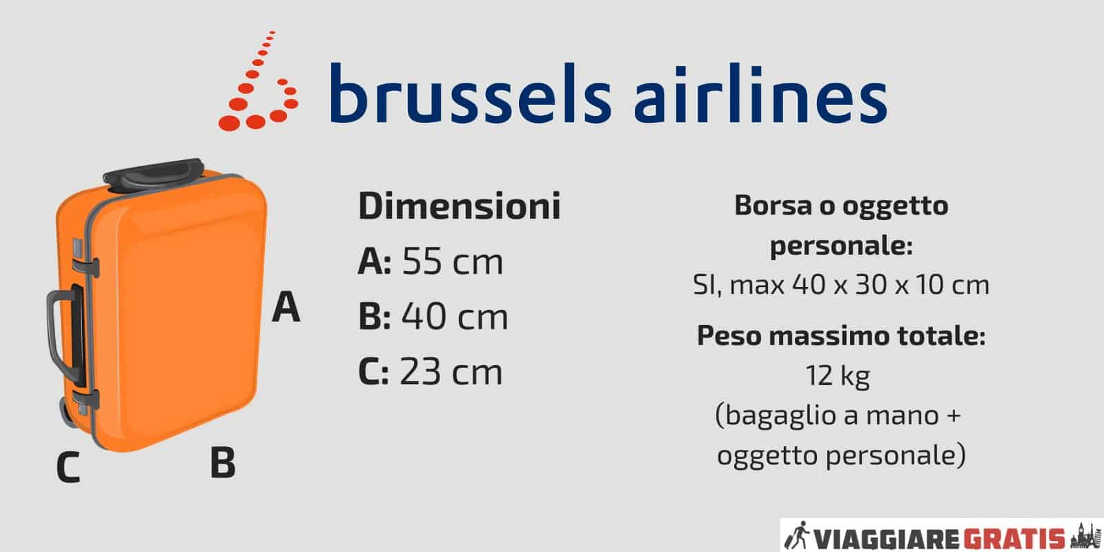 Bagaglio a Mano Brussels Airlines