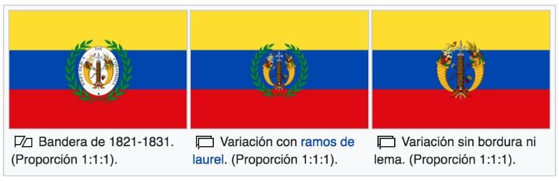 grande colombia bandiera terza versione