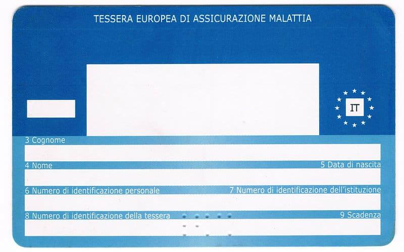 Tessera europea di assicurazione malattia TEAM