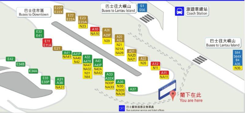 mappa aeroporto hong kong