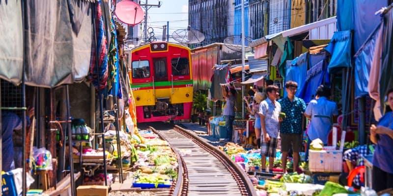 mercato ferroviario Bangkok