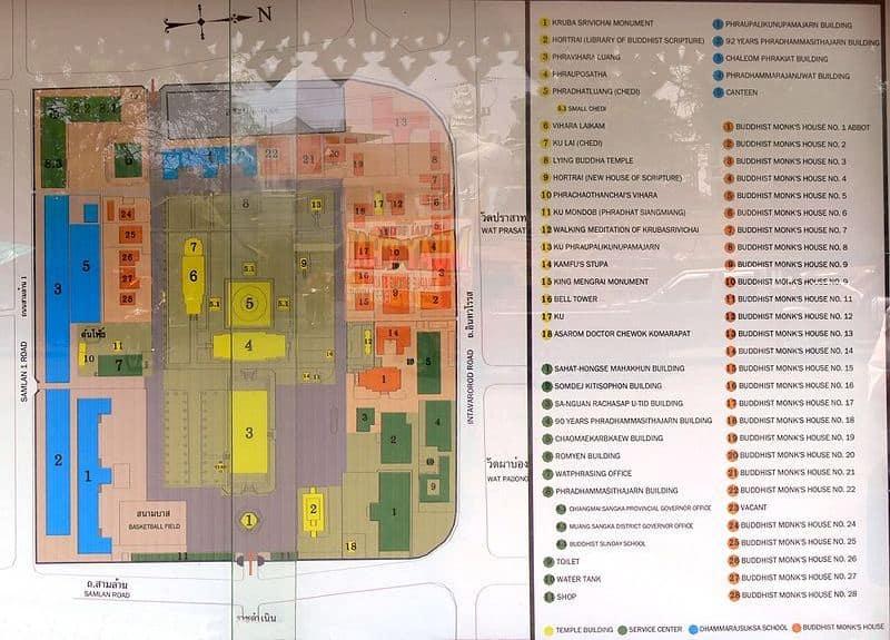 mappa tempio Phra Singh Chiang Mai