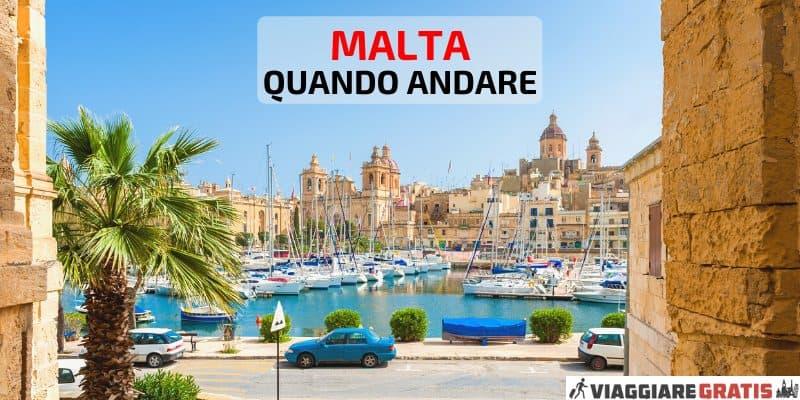 Meteo Malta quando andare
