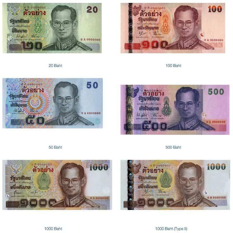 banconote Thailandia