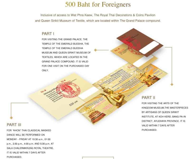 biglietto Grande Palazzo Reale Bangkok