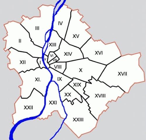budapest cartina geografica