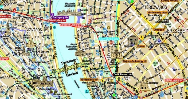 centro Budapest mappa