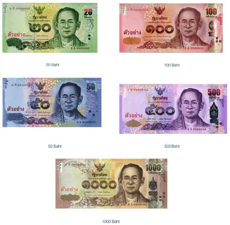 thai baht cambio banconote