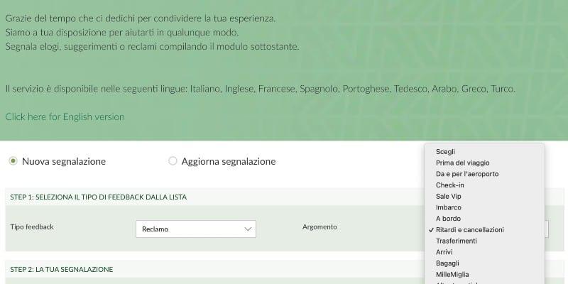 Contattare Alitalia My Experience