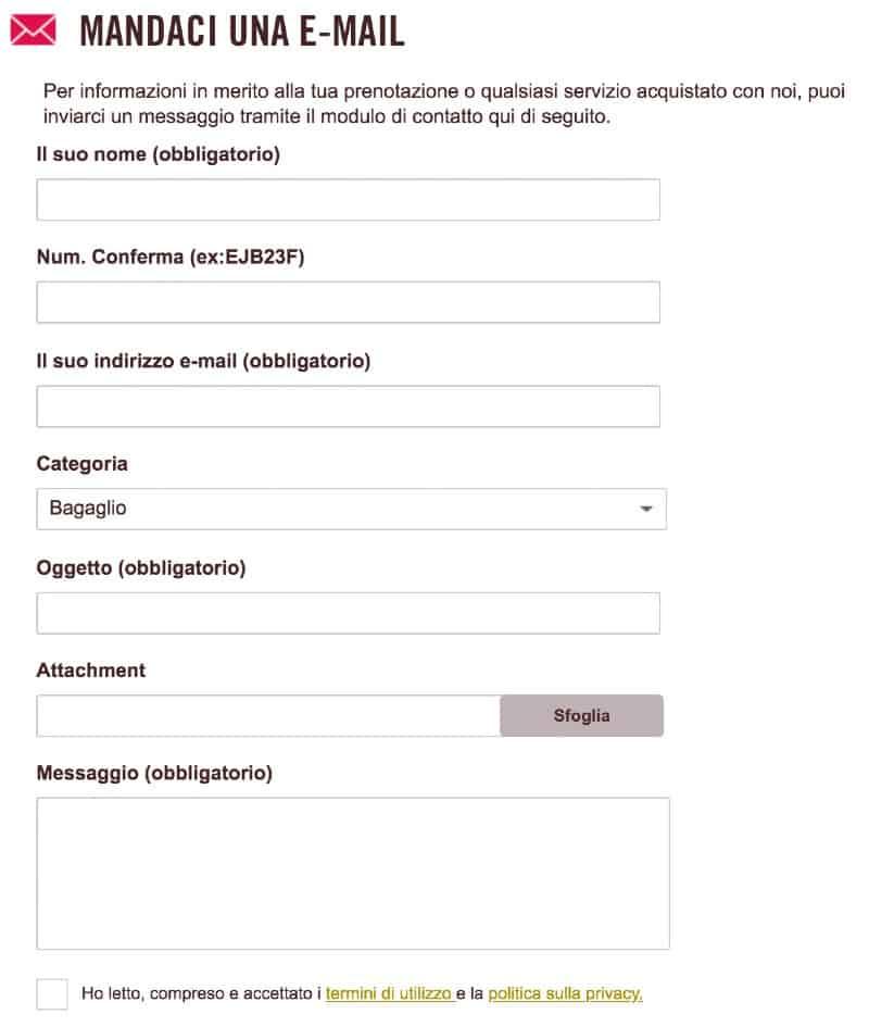 Volotea contatti email